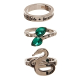 Prsteň - Harry Potter 3 Ring Set Slytherin