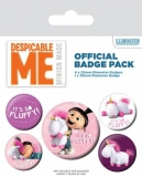 Odznak Despicable Me Pin Badges 5-Pack It's So Fluffy