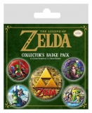 Odznak Legend of Zelda Pin Badges 5-Pack Classics