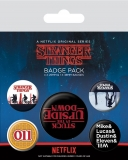 Odznak Stranger Things Pin Badges 5-Pack Upside Down