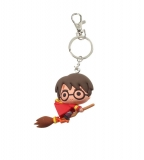 Kľúčenka Harry Potter Rubber Keychain Harry Potter & Broomstick 7 cm