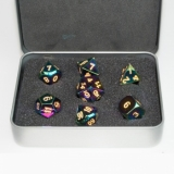 Kocka Set (7) Metal Dice Set - Scorched Rainbow