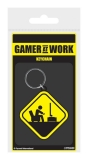 Kľúčenka Gamer At Work Rubber Keychain Caution Sign 6 cm