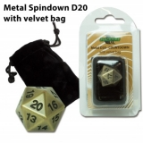 Blackfire Dice D20 Metal Spindown Counter ANTIQUE GOLD