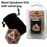 Blackfire Dice D20 Metal Random ANTIQUE COPPER