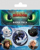 Odznak How to Train Your Dragon 3 Pin Badges 5-Pack Familiar Faces