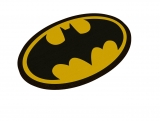 Rohožka - DC Comics Doormat Batman Logo Oval-Shaped 43 x 72 cm