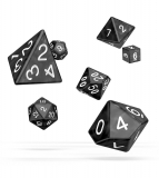 Kocka Set (7) - Oakie Doakie Dice RPG Set Marble - Black