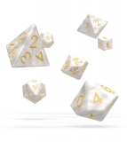 Kocka Set (7) - Oakie Doakie Dice RPG Set Marble - White