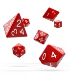 Kocka Set (7) - Oakie Doakie Dice RPG Set Solid - Red