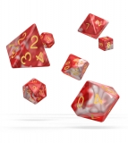 Kocka Set (7) - Oakie Doakie Dice RPG Set Gemidice - Red Sky