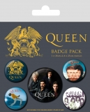 Odznak Queen Pin Badges 5-Pack Classic