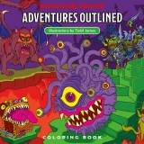 Dungeons & Dragons Adventures Outlined - Coloring Book