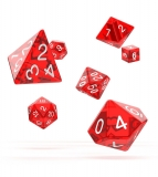 Kocka Set (7) - Oakie Doakie Dice RPG Set Translucent - Red