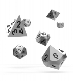 Kocka Set (7) - Oakie Doakie Dice RPG Set Metal Dice - Mercury
