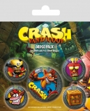 Odznak Crash Bandicoot Pin Badges 5-Pack Pop Out