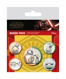 Odznak Star Wars Episode IX Pin Badges 5-Pack Droids
