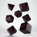 Kocka Set (7) - Classic RPG Runic Dice Set black & red