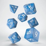 Kocka Set (7) - Classic RPG Runic Dice Set glacier & white
