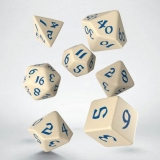 Kocka Set (7) - Classic RPG Runic Dice Set beige & blue