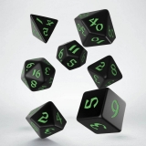 Kocka Set (7) - Classic RPG Runic Dice Set black & green