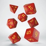 Kocka Set (7) - Classic RPG Runic Dice Set red & yellow