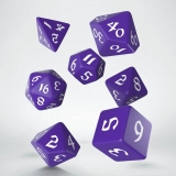 Kocka Set (7) - Classic RPG Runic Dice Set purple & white