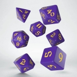Kocka Set (7) - Classic RPG Runic Dice Set purple & yellow
