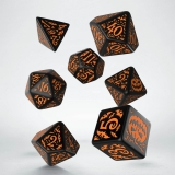 Kocka Set (7) - Classic RPG Halloween Dice Set Pumpkin black & orange