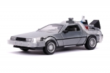 Back to the Future II Hollywood Rides Diecast Model 1/24 DeLorean Time Machine