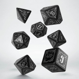 Kocka Set (7) - Bloodsucker Dice Set black & silver