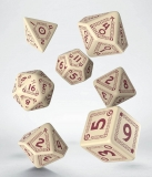 Kocka Set (7) - RuneQuest Dice Set beige & burgundy