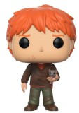 Funko POP: Harry Potter - Ron Weasley with Scabbers 10 cm