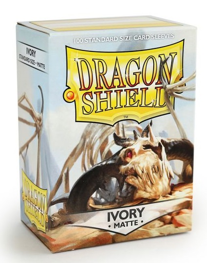 Obal Dragon Shield 100ks MATTE – slonovina IVORY