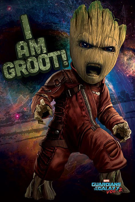 Plagát Guardians of the Galaxy Vol. 2 - Angry Groot 61 x 91 cm