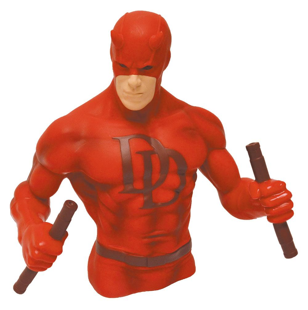Marvel Comics Bust Bank Daredevil Red Version 15 cm - pokladnička