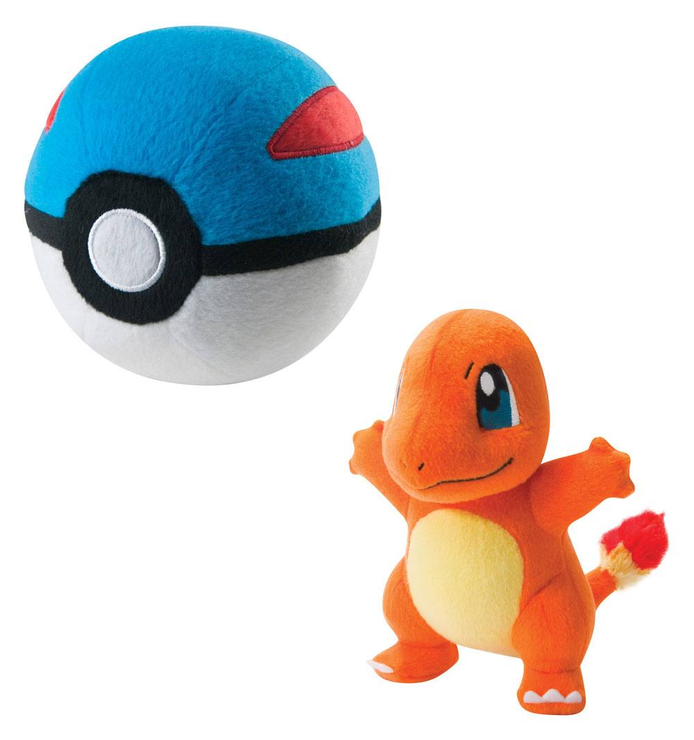 Pokémon Plush Figure Charmander with Great Ball 15 cm