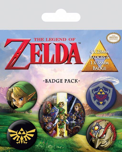 Odznak The Legend of Zelda Pin Badges 5-Pack Link