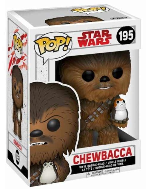Funko POP: Star Wars Episode VIII - Chewbacca with Porg Flocked 10 cm
