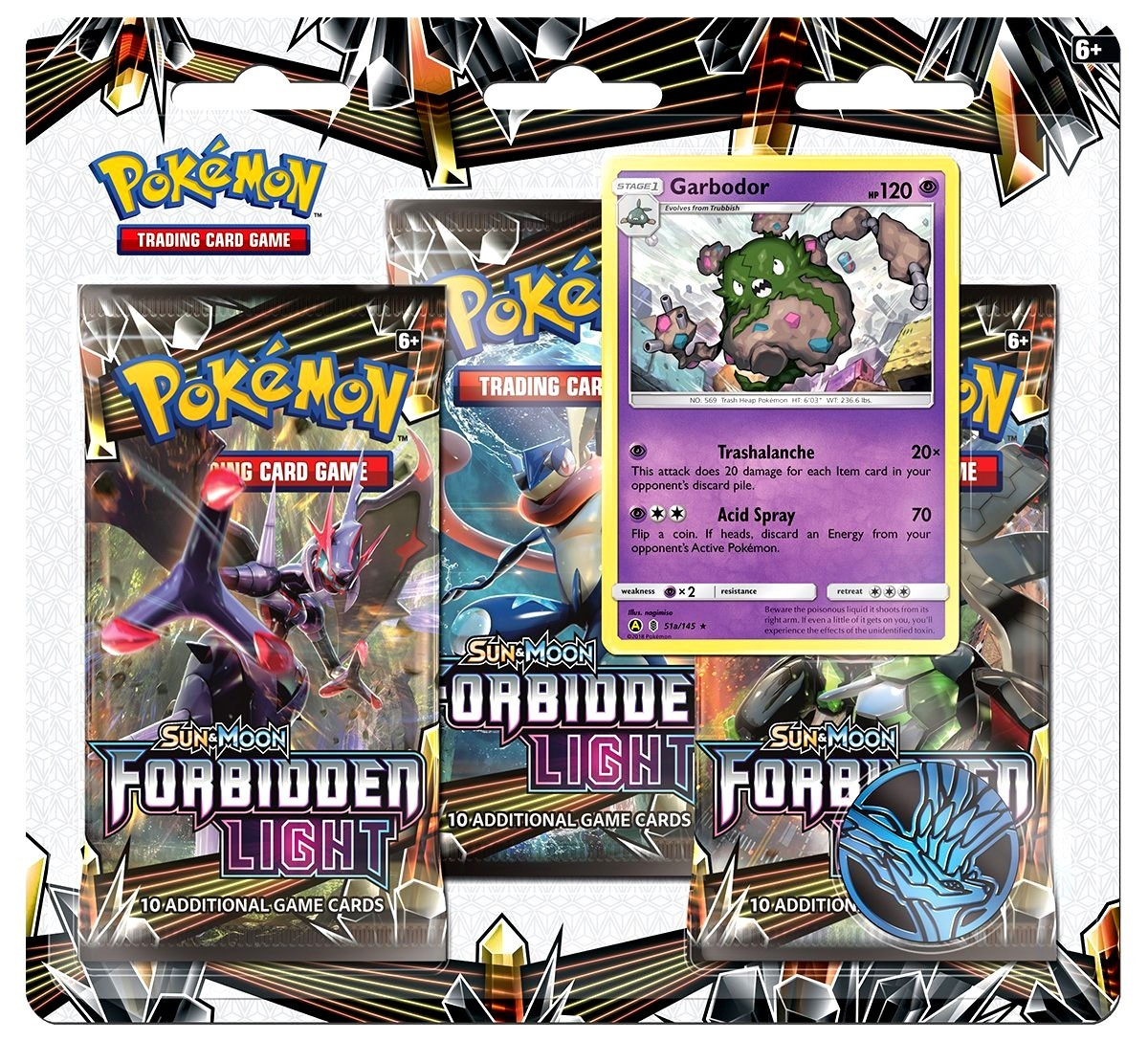 Pokémon TCG: Sun & Moon 6 Forbidden Light 3-pack Blister