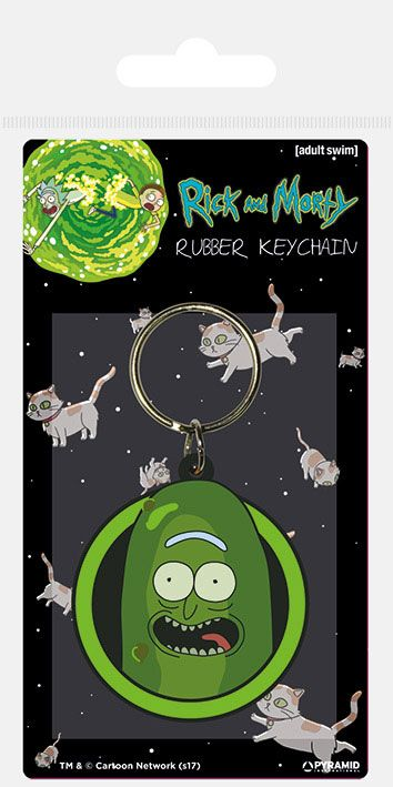 Kľúčenka Rick and Morty Rubber Keychain Pickle Rick 6 cm