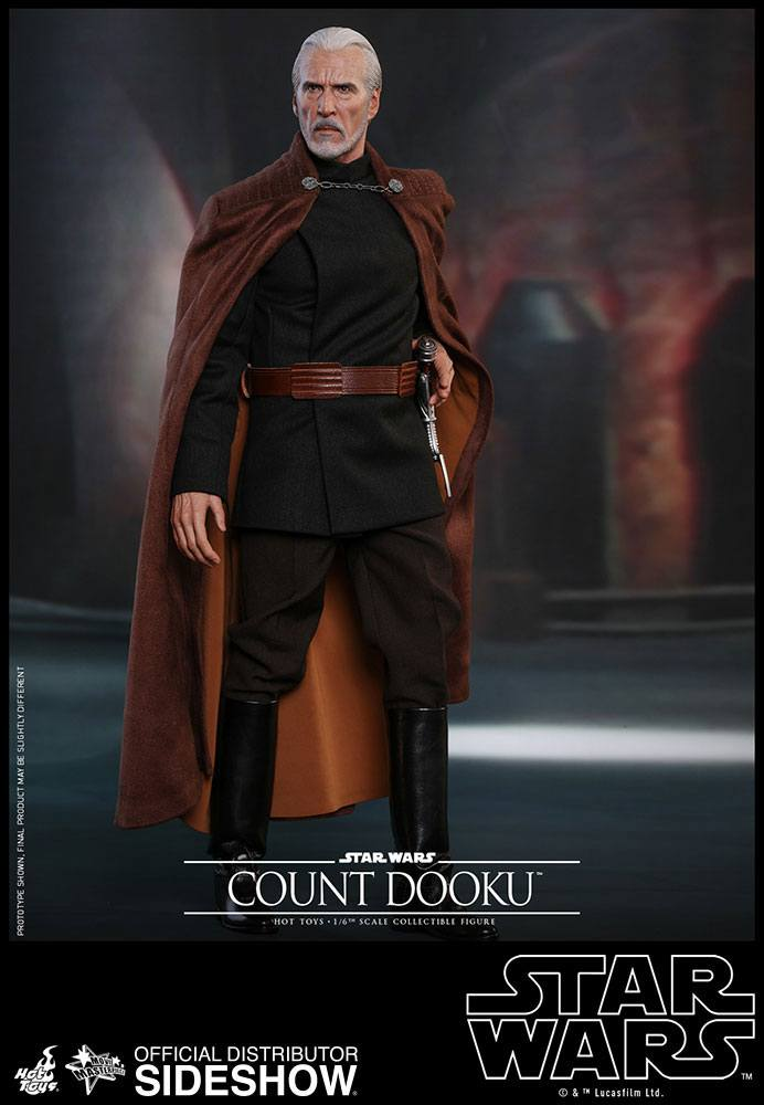 19/09 Star Wars Episode II Movie Masterpiece Action Figure 1/6 Count Dooku 33 cm