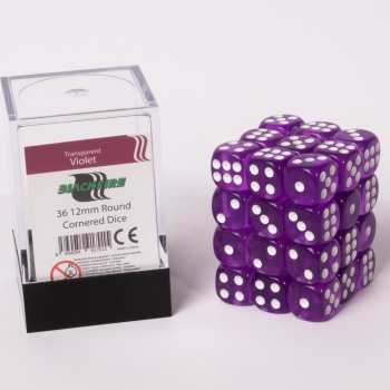 Kocka Set (36) - BF 12mm D6 - Transparent Violet