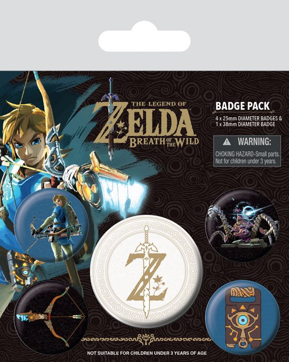 Odznak The Legend of Zelda Breath of the Wild Pin Badges 5-Pack Z Emblem