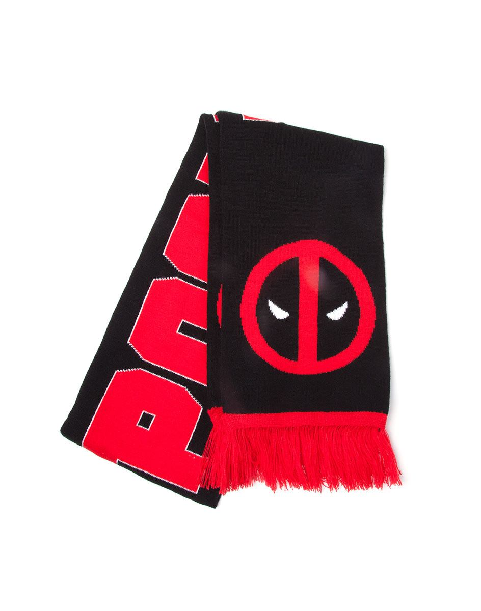 Šál - Deadpool Knitted Scarf Classic Logo & Big Face