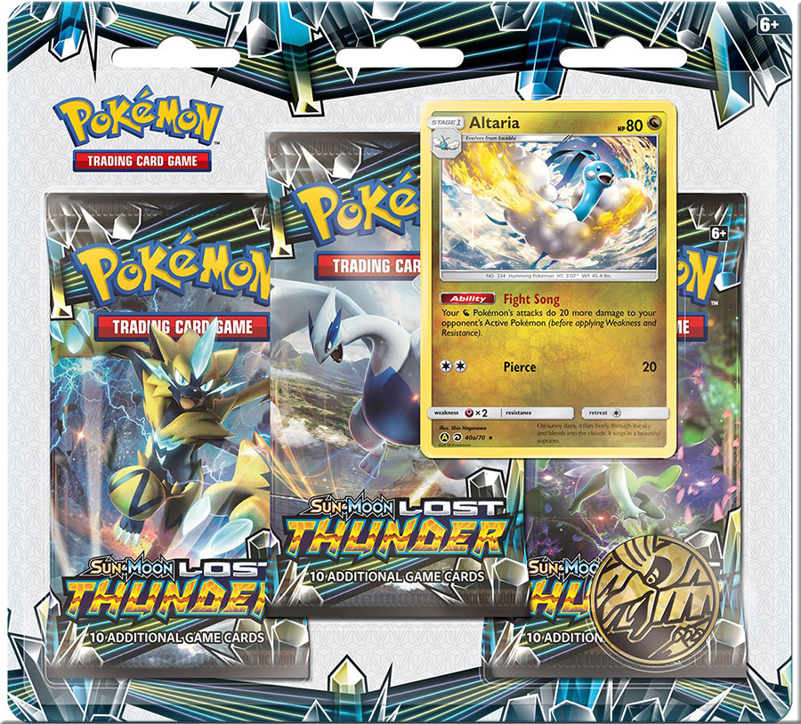 Pokémon TCG: Sun & Moon Lost Thunder 3-PACK BLISTER