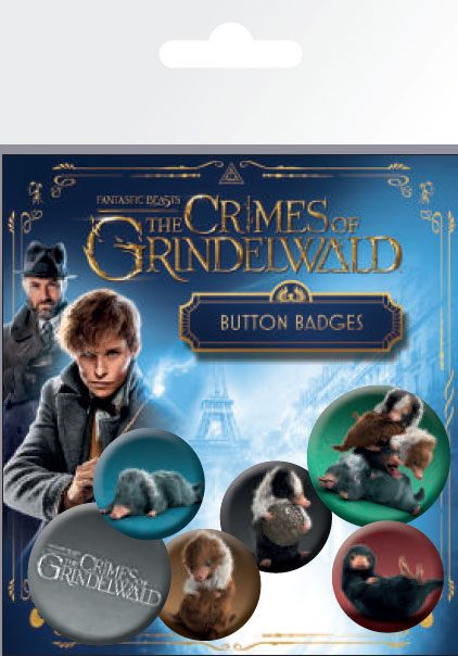 Odznak Fantastic Beasts 2 Pin Badges 6-Pack Nifflers