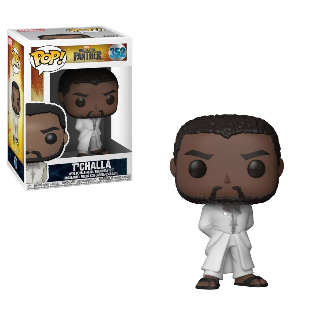 Funko POP: Black Panther Movie - Black Panther T'Challa Robe (White) 10 cm