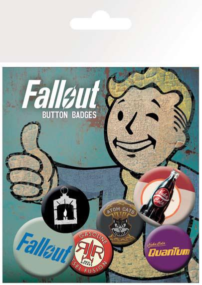 Odznak Fallout Pin Badges 6-Pack Mix 2