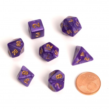 Kocka Set (7) - BF Fairy Dice Marbled MINI 12 mm - Purple